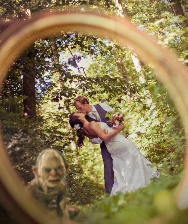 Black Girl Picture  Funny Smeagol Gollum Wedding Ring Joke PhotoSmeagol Ring