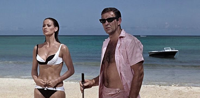 Vintage Bond Girls in Swimsuits Domino Derval