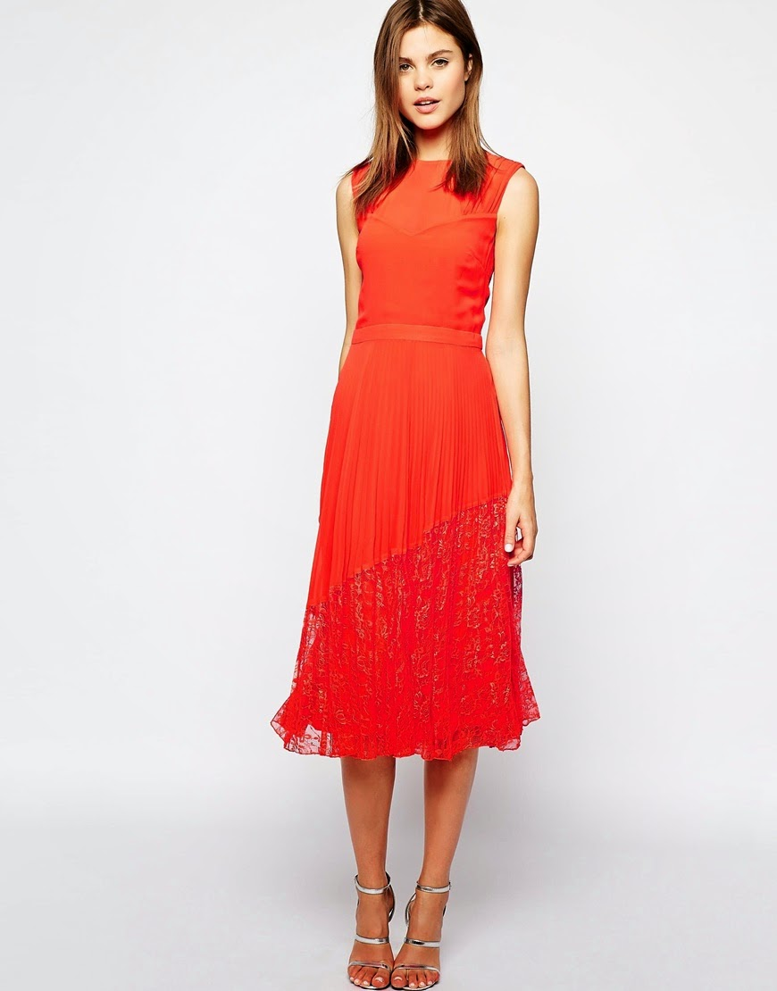 orange dress midi length