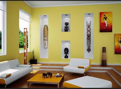 warna cat ruang tamu netral