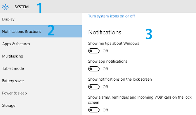 Turn Off Windows 10 Notifications