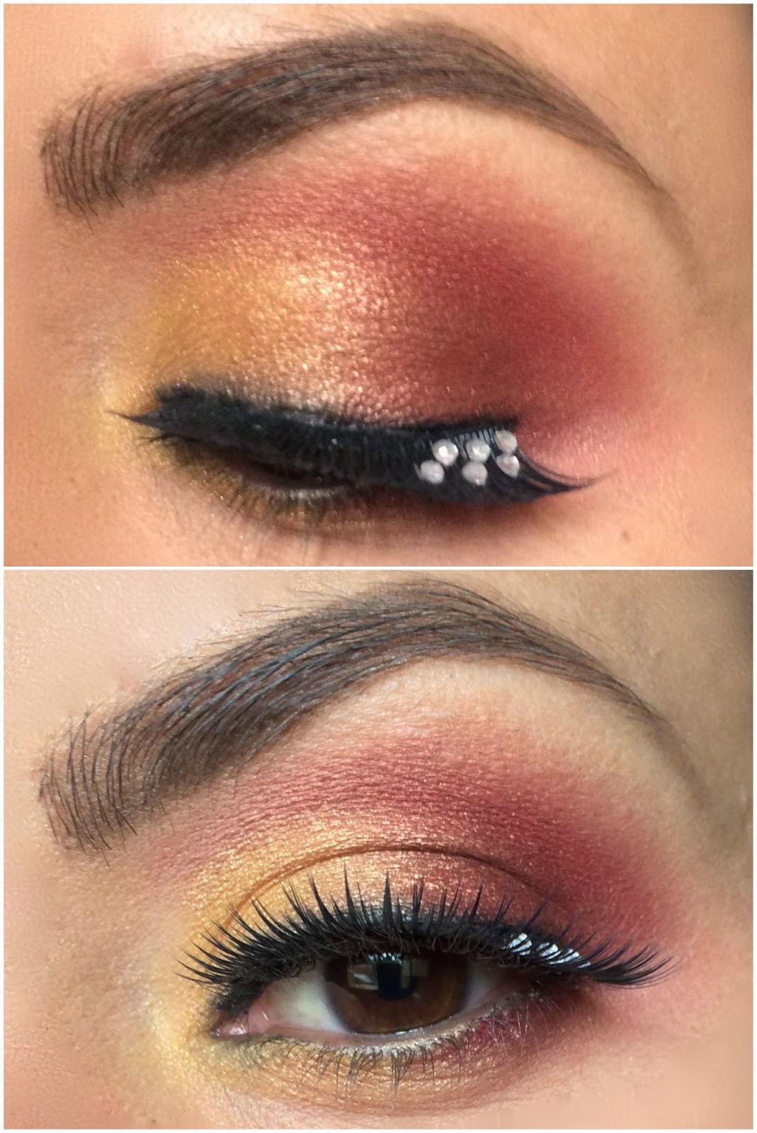 Makeup Ideas fire makeup : ... On With This u0026quot;Catching Fireu0026quot; Inspired Makeup Tutorial : Gloss and Dirt