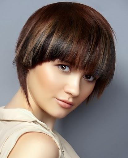 Peinados y Tendencias de Moda Cortes de pelo corto con flequillo