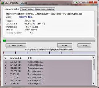 Skype Download Proggress