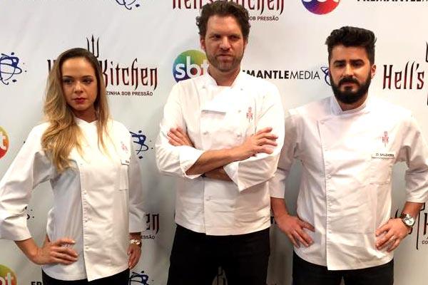 Subchefs Gilda Bley e Zi Saldanha participam da terceira temporada do Cozinha Sob Pressão -(Fotos: Adolfo Nomelini/SBT)