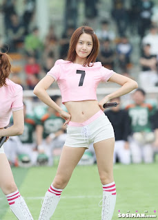 Im Yoona Korean Cute Girl Singer Sexy Photo at Namyangju Central Football Game 18