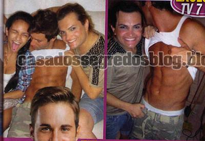 Fotos Cláudio Viana com o Travesti William Guisso