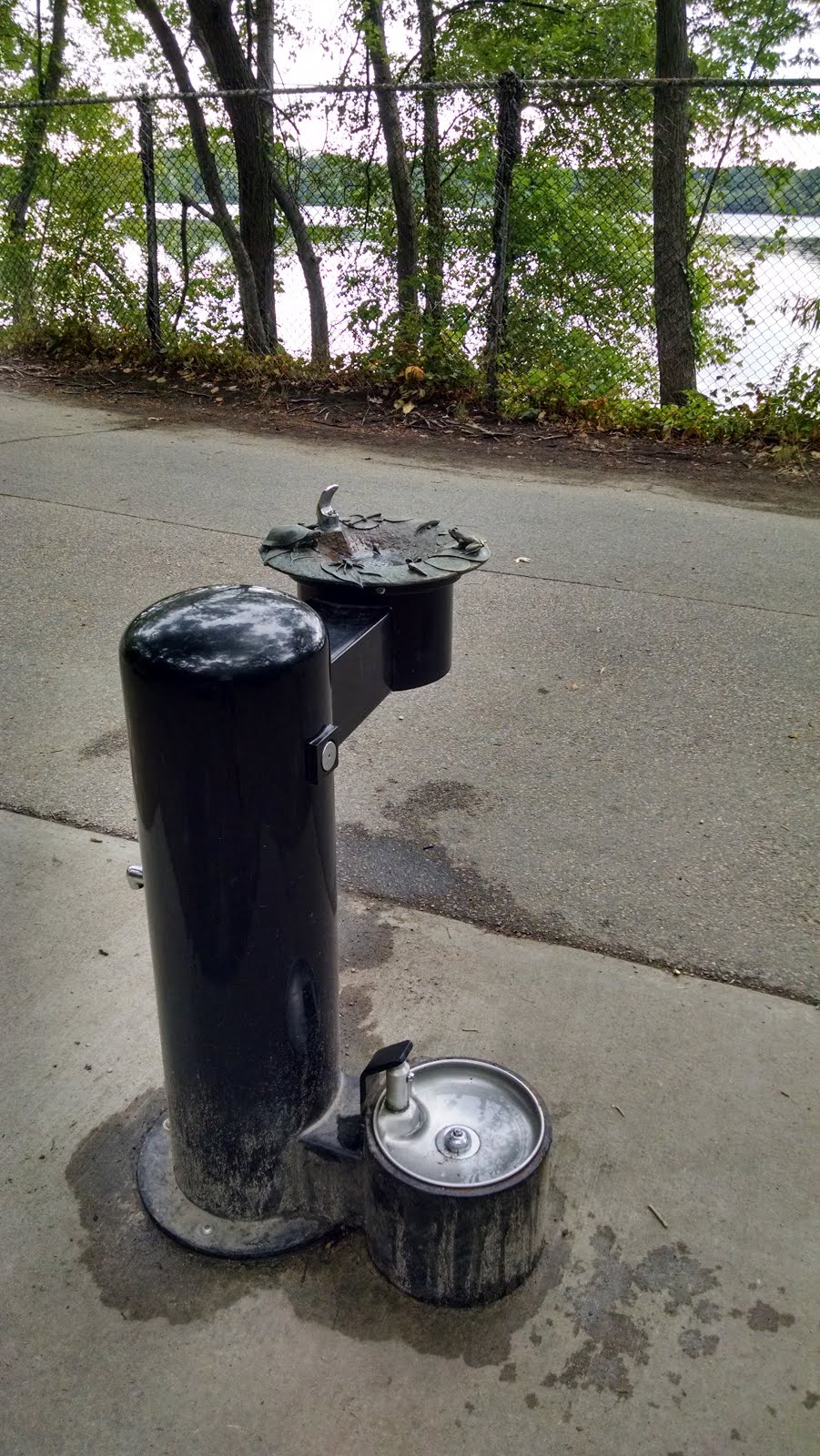 this is a great example of how to create special drinking fountains without huge budgets and too much fuss artists could be to do something
