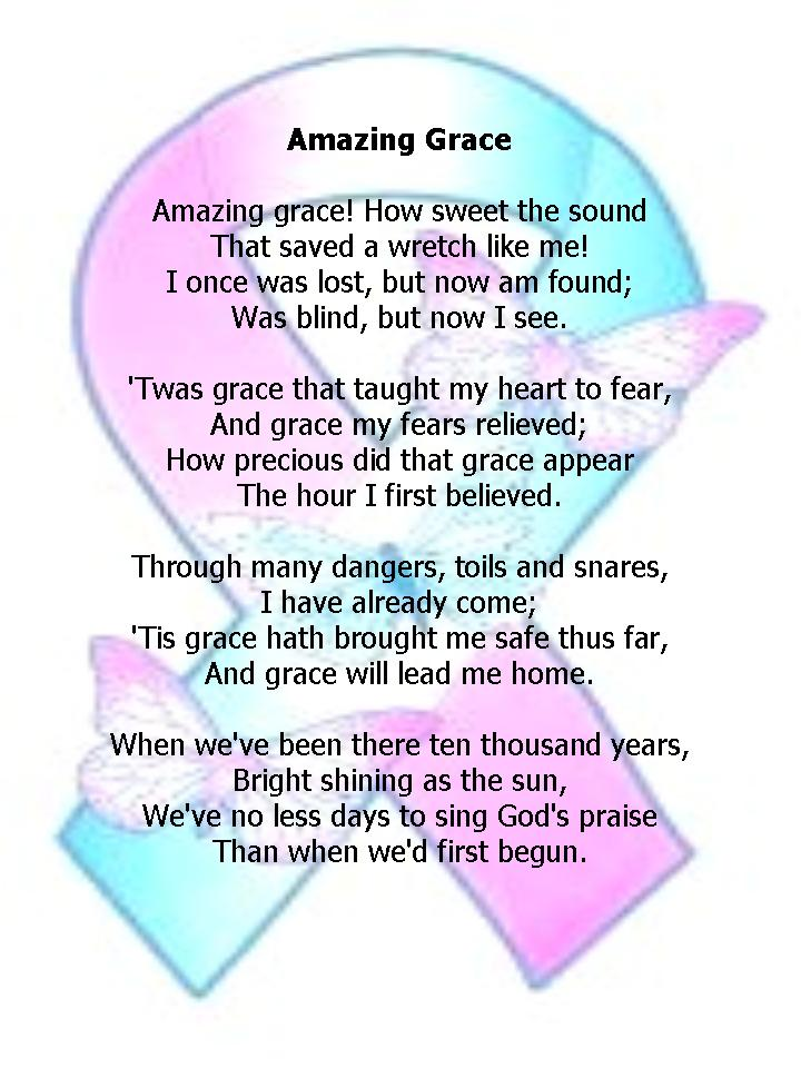 amazing grace poem analysis Amazing grace (stanzas added) these are stanzas added by the folk process they were not part of the original amazing grace, which was published in 1779 in olney hymns set to the unaccompanied tune used.