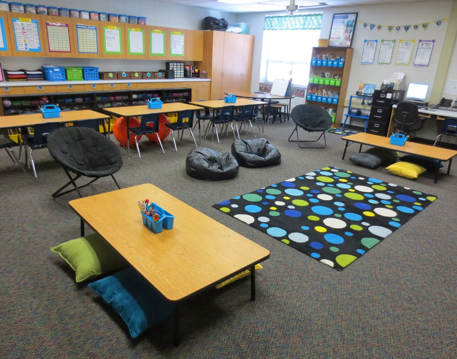 Creative Classroom Idea ~ Setting up for second mid year update alternative seating