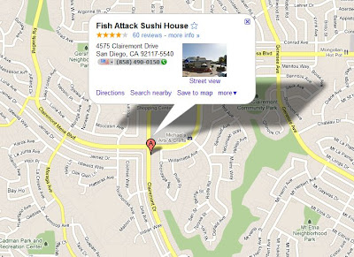 Fish Attack Sushi House - Google Maps Location