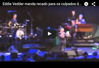Pearl Jam: cachê será doado às vítimas de Mariana