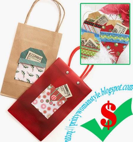 Идеи как да подарим пари за Коледа в празнична опаковка