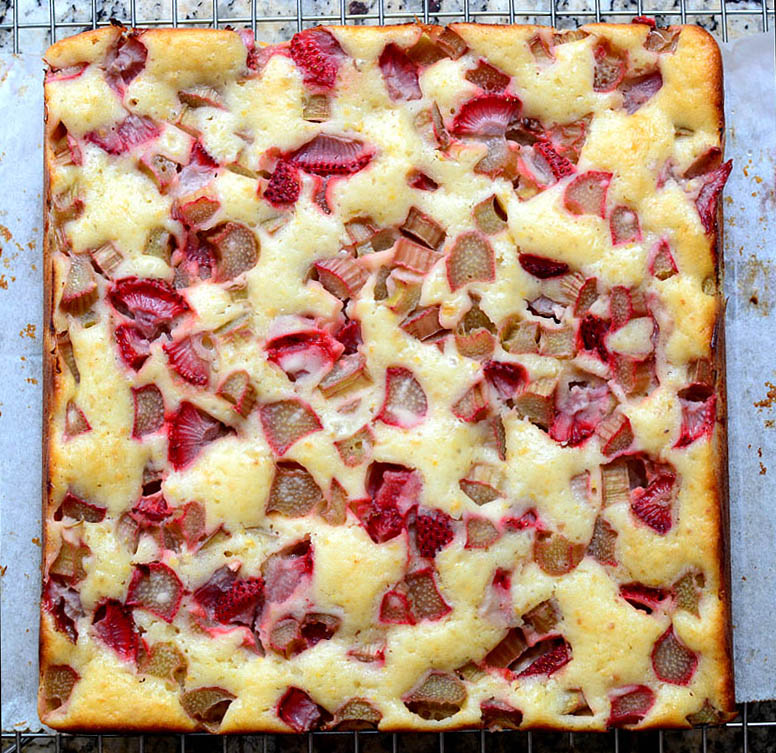 Rhubarb-Strawberry Cake