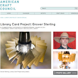 Austin Grover Lamps featured in American Crraft Org article.