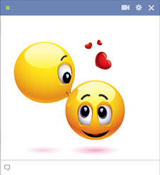 Kissing forehead emoticons