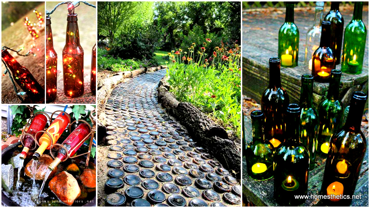 19 Spectacular Sustainable DIY Wine Bottle Outdoor ...
