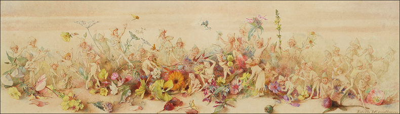 Edith Mendham 'Fairies in the battle of the flowers'