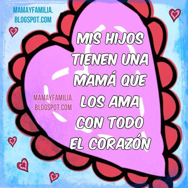 imagen y palabras para los hijos por Mery Bracho. Mamá y familia, Bellas palabras de una madre a sus hijos, bendiciones para mis tesoros, mis nietos.