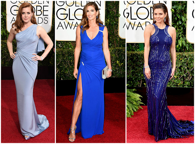 Amy Adams in Versace at Golden Globes Red Carpet Cindy Crawford at Golden Globes Red Carpet Maria Menounos in Gabriela Caden at Golden Globes Red Carpet