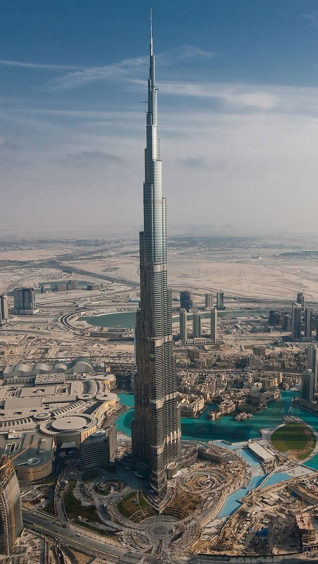 Dubai Tall Tower iPhone 5 HD Wallpaper Download