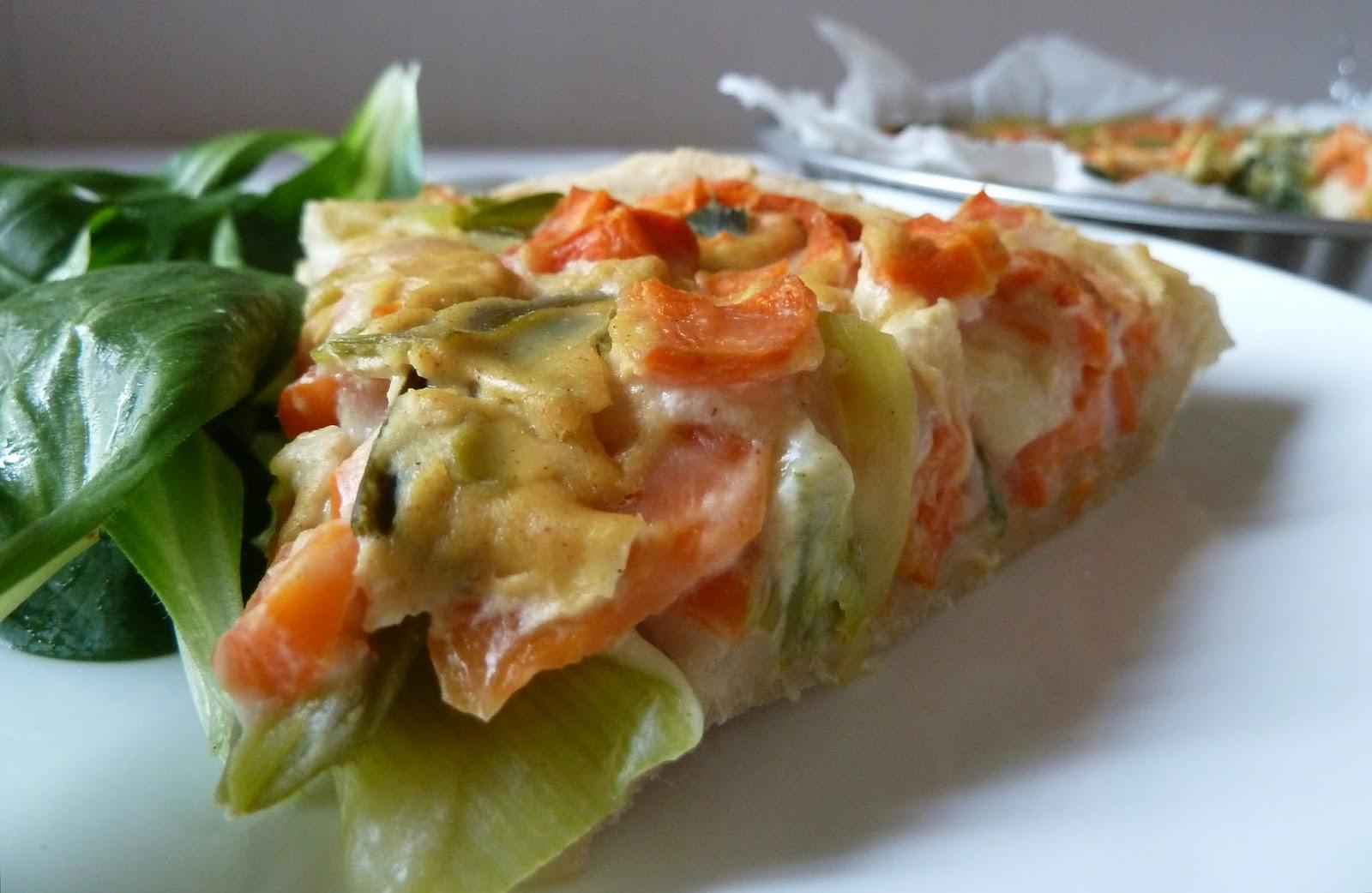 Quiche carottes poireaux moutarde sans oeufs - Recette quiche sans oeuf ...