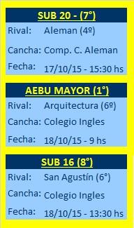 Próximos partidos de todas las categorías del AEBU