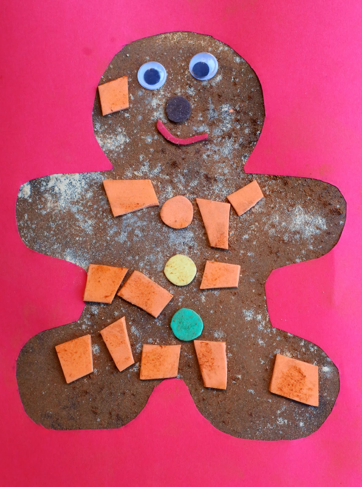 Christmas craft for kids scented gingerbread man art for Free christmas crafts for kids