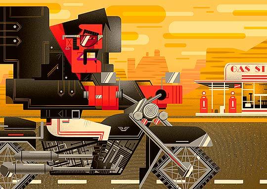 Ilustración. Colorido y formas abstractas de Gabriela Zurda