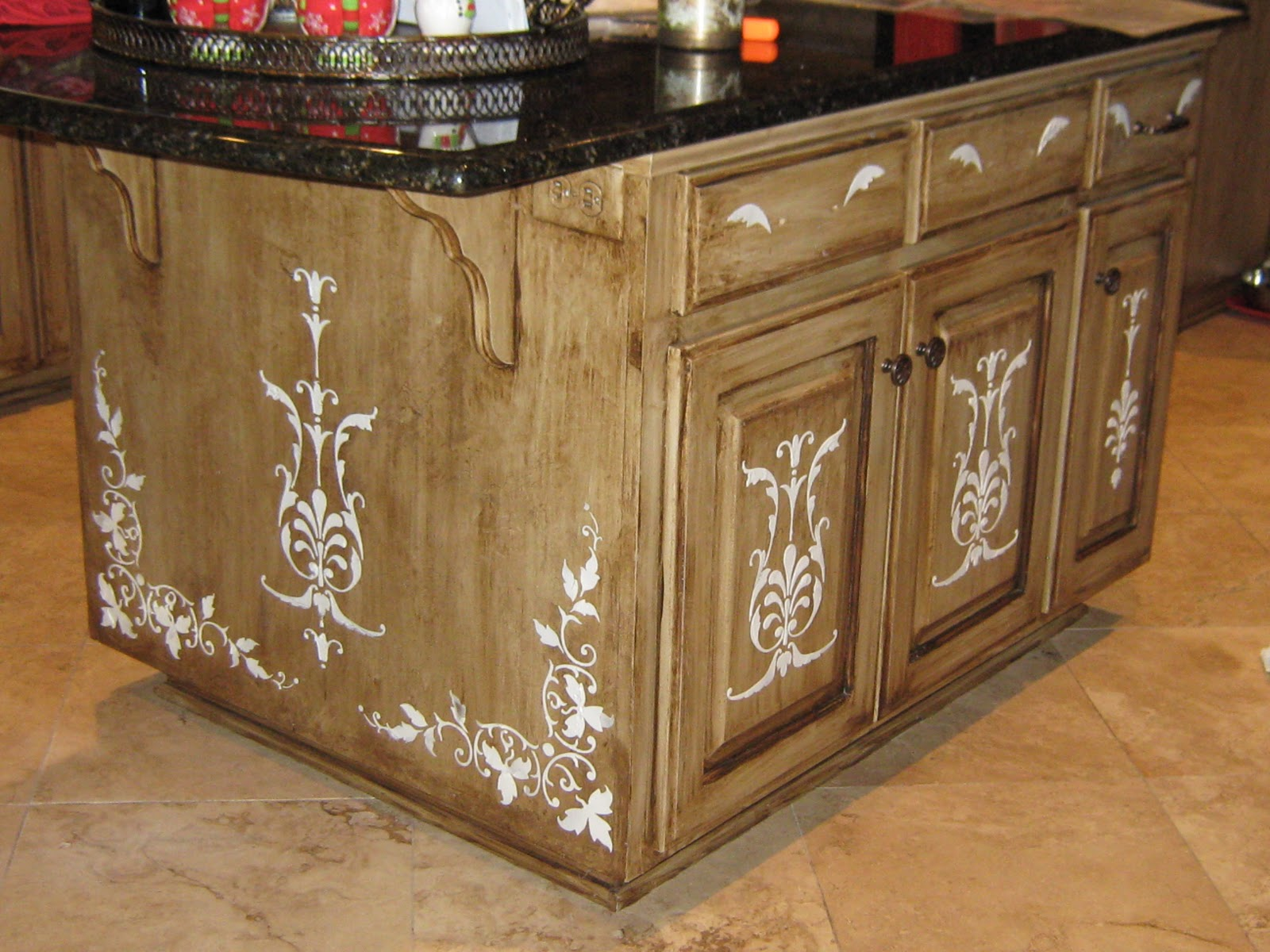 Decorative Painting Kitchen Islands