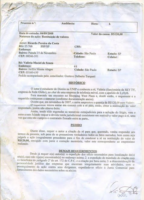 VALÉRIA MACIEL / REDE GLOBO E GOVERNO BRASILEIRO S.A