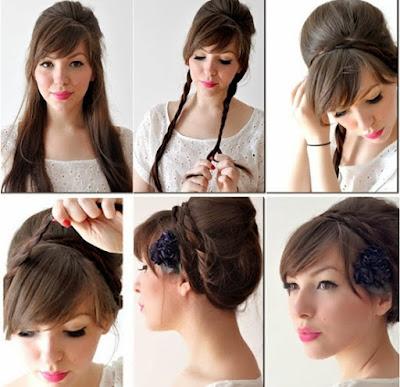 Model Rambut Wisuda Kepang Cantik