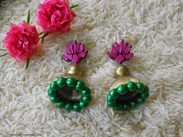 terracotta jhumkas  design traditional