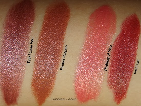 Benefit Full Finish Lipsticks Swatches