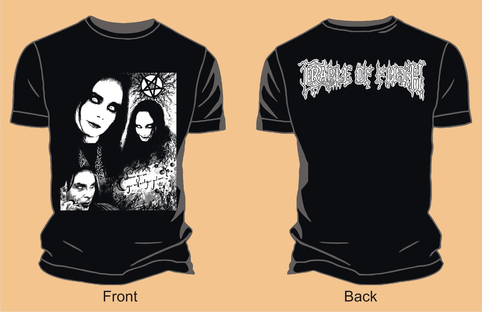 cradle of filth dany filth vector t shirts. Black Bedroom Furniture Sets. Home Design Ideas