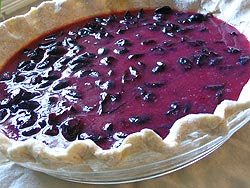 Concord grape pie filling