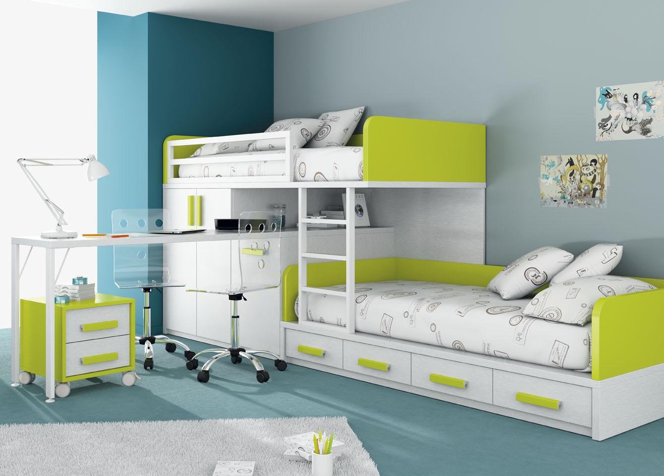 Letti a castello di mobili ros camerette ragazzi - Ver habitaciones infantiles ...