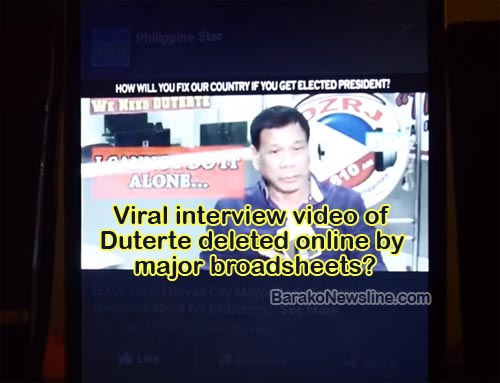 Deleted Uncut video of Rodrigo Duterte Interview