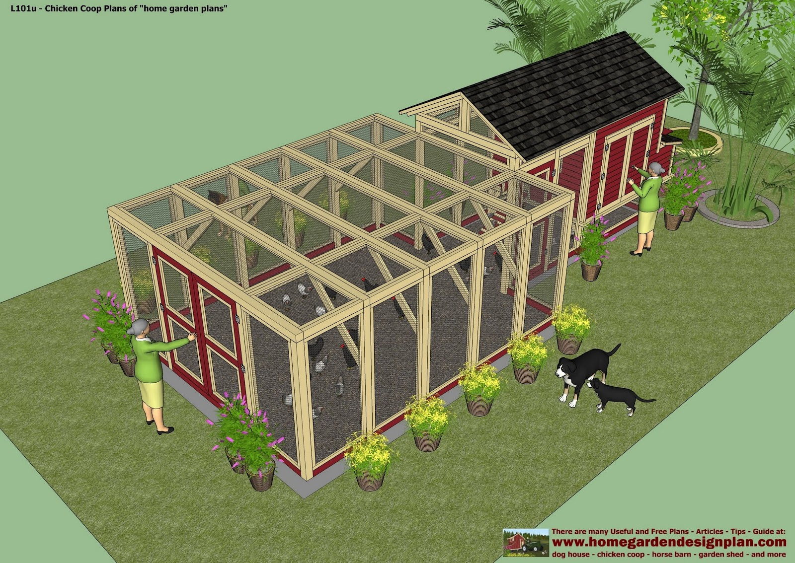 Home garden plans l101 chicken coop plans construction for Plans chicken coop