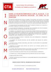 SOBRE LA REUNIÓN MANTENIDA CON EL ALCALDE Y LA CONCEJALA DE ASUNTOS SOCIALES DE CONIL DE LA FRONTER