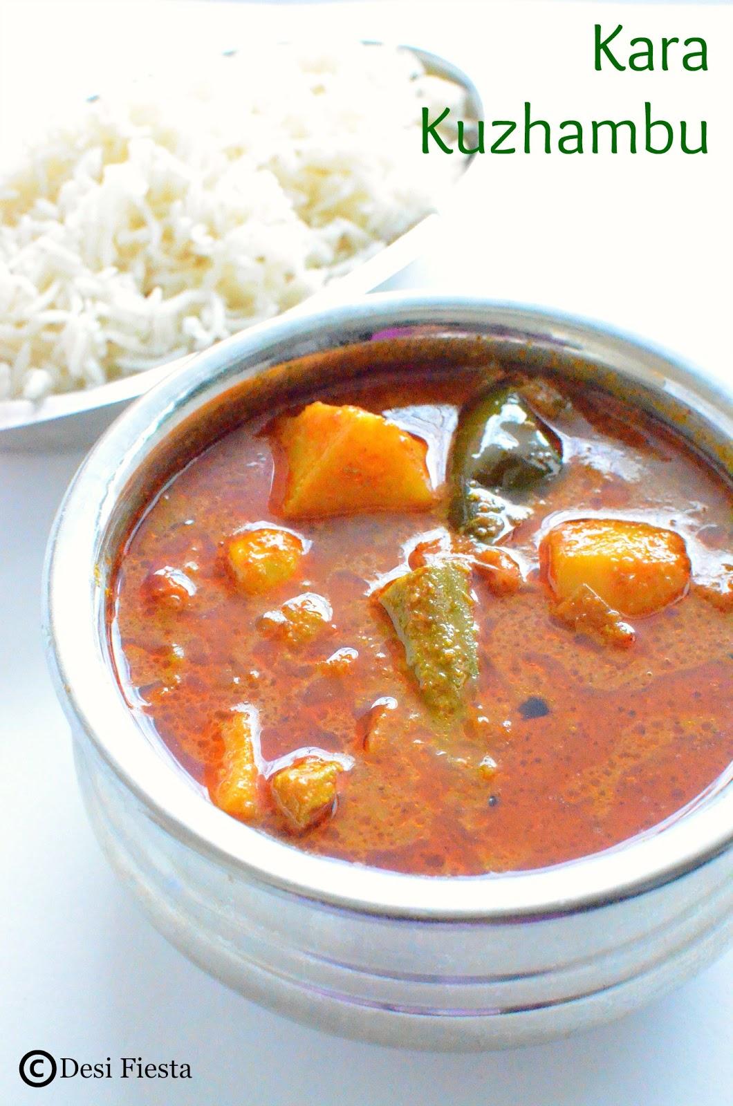 Vegetable Kara kuzhambu Recipe