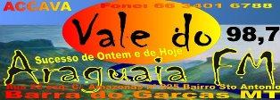 Rádio Vale do Araguaia FM de Barra do Garças MT ao vivo