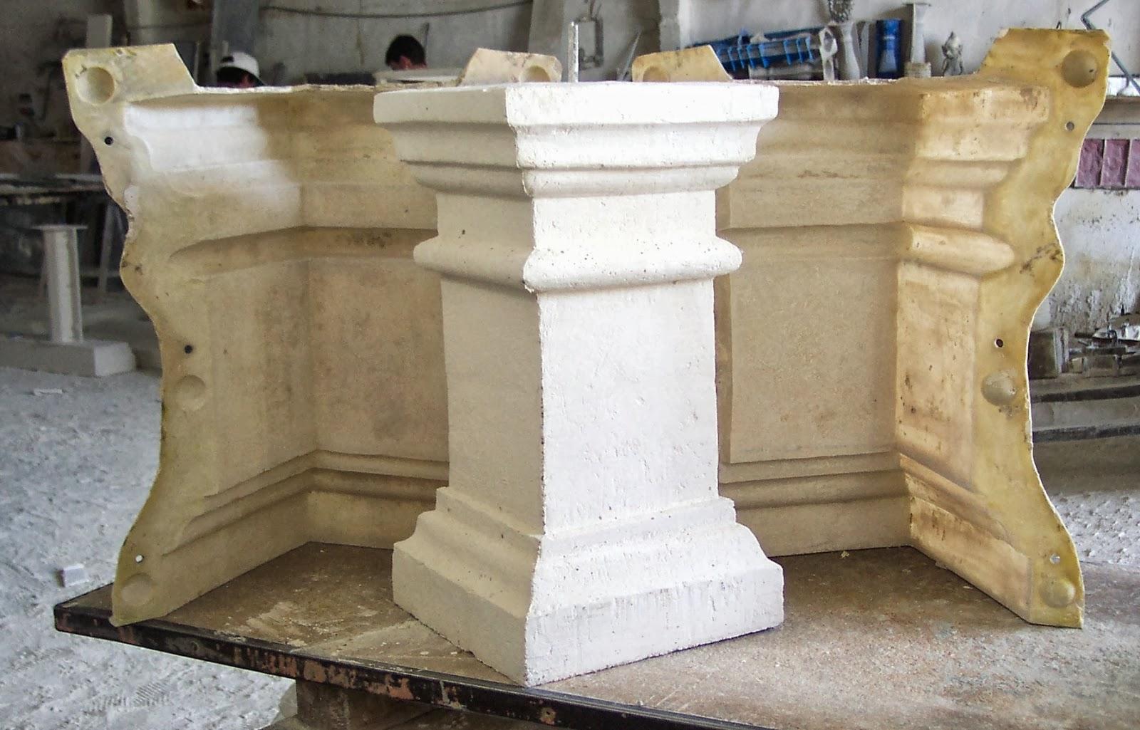 Moldes para balaustras de piedra artificial - Moldes piedra artificial ...