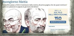 Buongiorno de LA STAMPA da Massimo Gramellini a Mattia Feltri