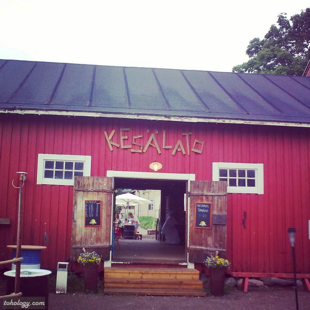 Kesätalo restaurant (in the backyard)