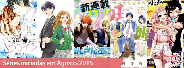 Séries, de Shoujo e Josei, iniciadas em Agosto/2015
