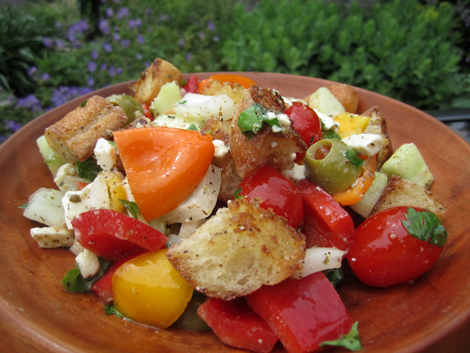 The irish mother greek panzanella Barefoot contessa panzanella