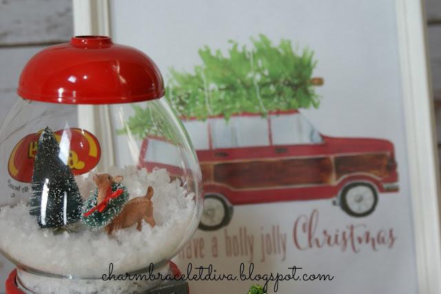 Bubble Gum Machine Waterless Snow Globe Tutorial