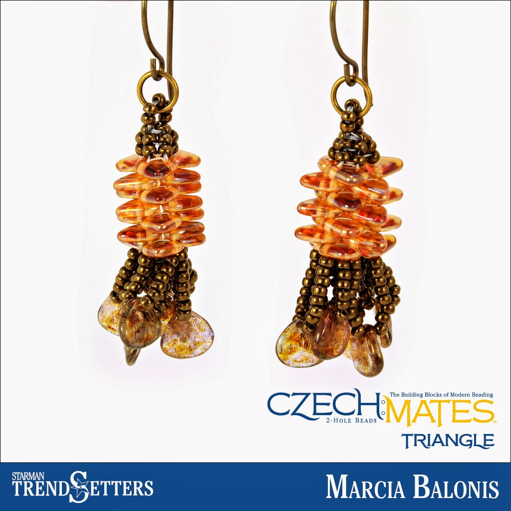 CzechMates Triangle earings by Starman TrendSetter Marcia Balonis