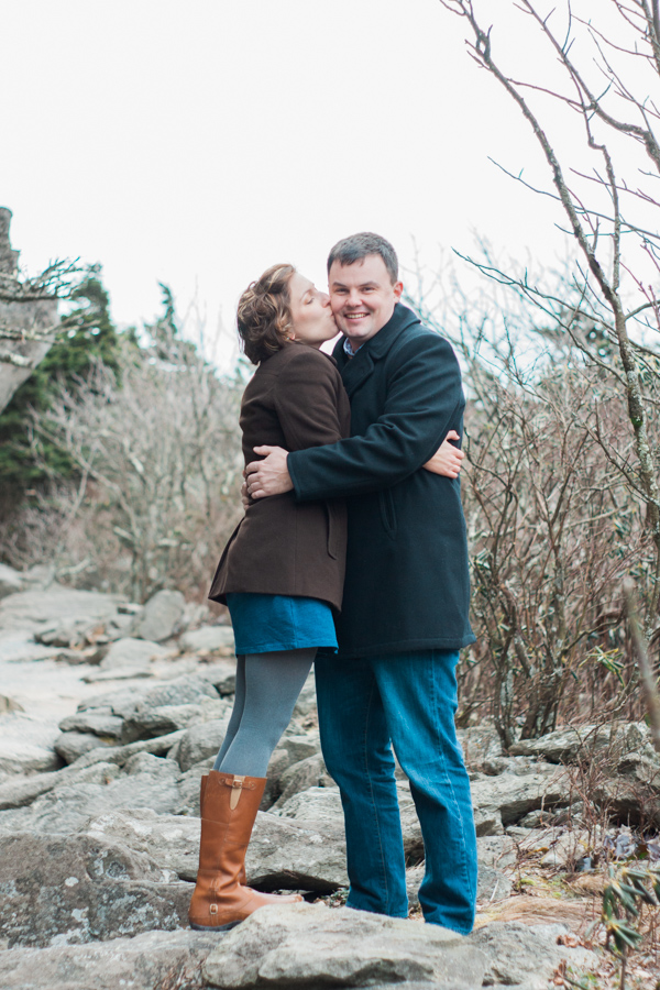 Leslie + Wes' Grandfather Mountain Engagement Photo Adventure by Boone Photographer Wayfaring Wanderer